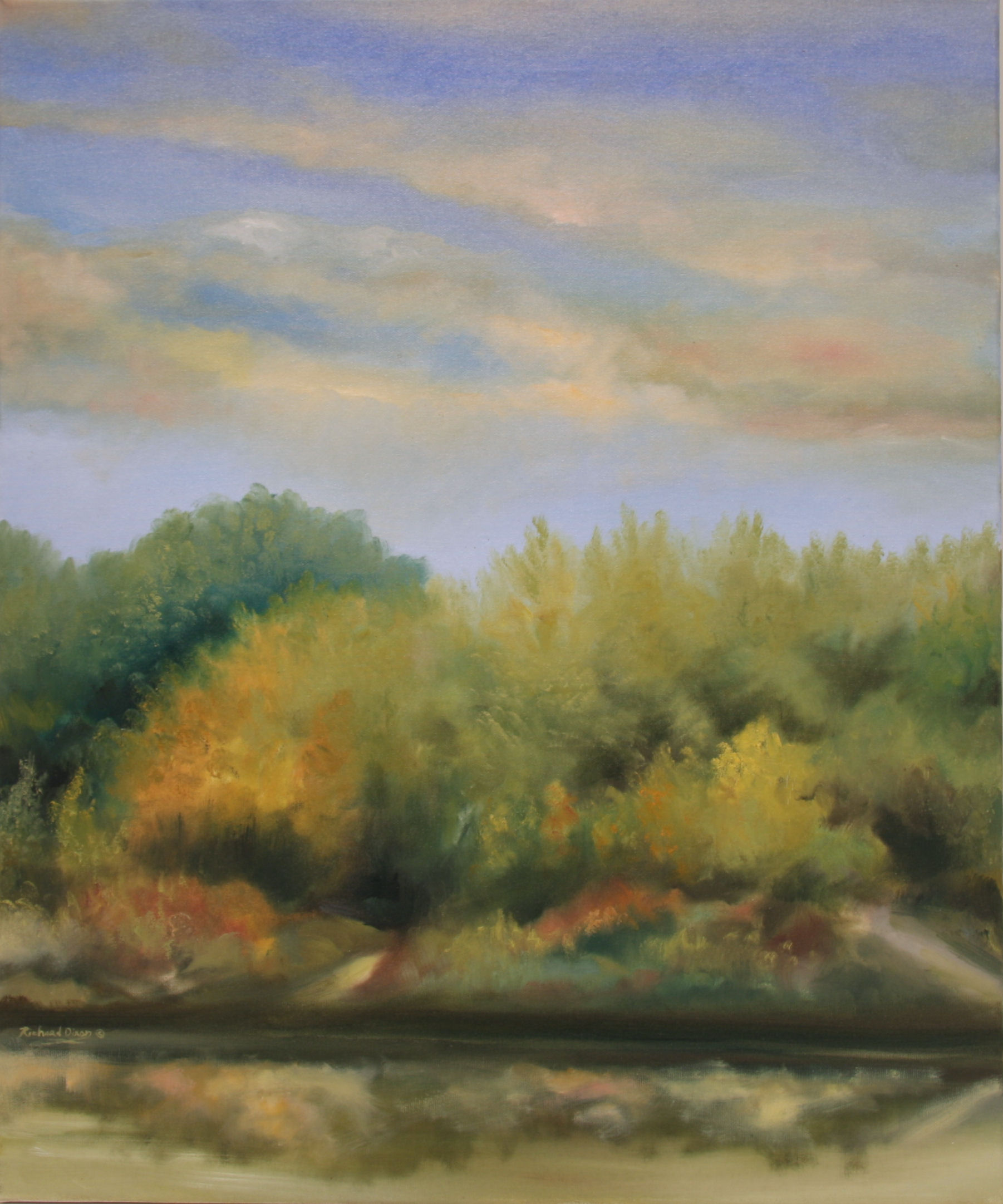 Still Waters original oil painting by Richard Dixon